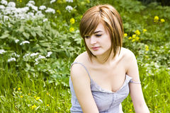 Woman in nature Royalty Free Stock Photo