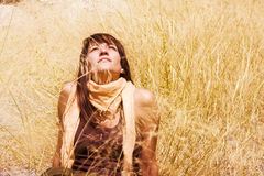 Woman in nature Stock Image