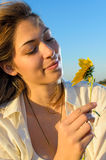 Woman in nature Stock Photography