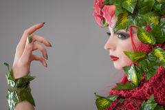 Woman nature Stock Photography