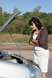 Woman near car Stock Photos