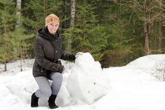 Woman near the mountains Stock Photo