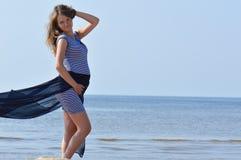 Woman near ocean Stock Image