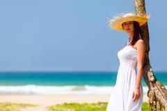 Woman near the ocean Stock Image