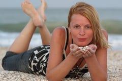 Woman near sea Stock Image
