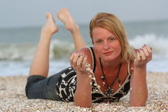 Woman near sea Stock Photography