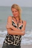 Woman near sea Royalty Free Stock Image