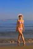 Woman near the sea Royalty Free Stock Photo