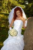 Woman near the tree Royalty Free Stock Photo