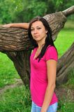 Woman near the tree Royalty Free Stock Photography