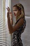 Woman near the window Royalty Free Stock Photo