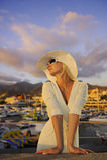 Woman near the yachts Royalty Free Stock Photo