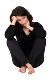 Woman with neck pain Stock Images