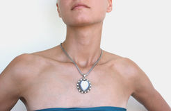 Woman with a necklace Royalty Free Stock Photo