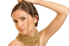 Woman with necklace Stock Image