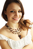 Woman in a necklace Stock Photos
