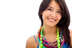 Woman with necklaces Royalty Free Stock Photo
