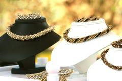 Woman necklaces Stock Photo