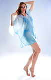 Woman in negligee Stock Photo