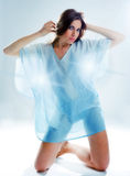 Woman in negligee Stock Photography