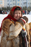 The woman the Nenets woman in national clothes Stock Image