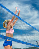 Woman at the net Royalty Free Stock Photos