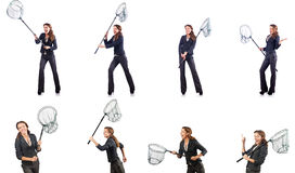 The woman with net Stock Photography