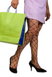 Woman with Net Stockings Royalty Free Stock Photos