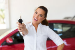 Woman new car Royalty Free Stock Images