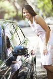 Woman with new car Royalty Free Stock Photo