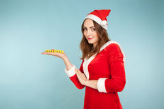 Woman in new year costume Stock Photos