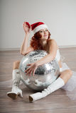 Woman in a New Year's costume Stock Image