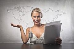 Woman News Stock Photos