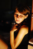 Woman in the night Royalty Free Stock Photography