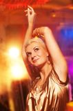 Woman in the night club Stock Image
