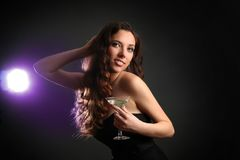 Woman in nightclub Stock Photos