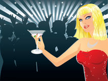 Woman in nightclub Royalty Free Stock Photos