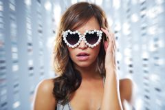 Woman in the nightclub Royalty Free Stock Photography
