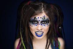 Woman vampire make up Royalty Free Stock Photos