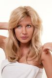 Woman with no makeup Royalty Free Stock Image