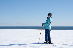 Woman Nordic Skiing Royalty Free Stock Image