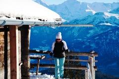 Woman nordic walking Stock Photos