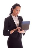 Woman with notebook royalty free stock images