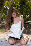 Woman with notebook Stock Photography