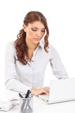 Woman with notebook Stock Image