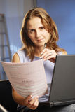 Woman with notebook Royalty Free Stock Photography