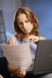 Woman with notebook Royalty Free Stock Photo