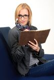 Woman with notebook. close up Stock Photography