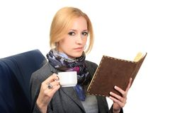 Woman with notebook. close up Royalty Free Stock Photos