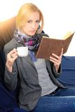 Woman with notebook. close up Royalty Free Stock Photography